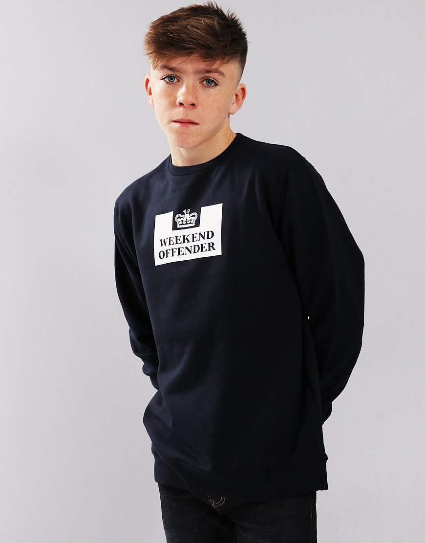 Weekend Offender Kids Penitentiary Sweat Navy
