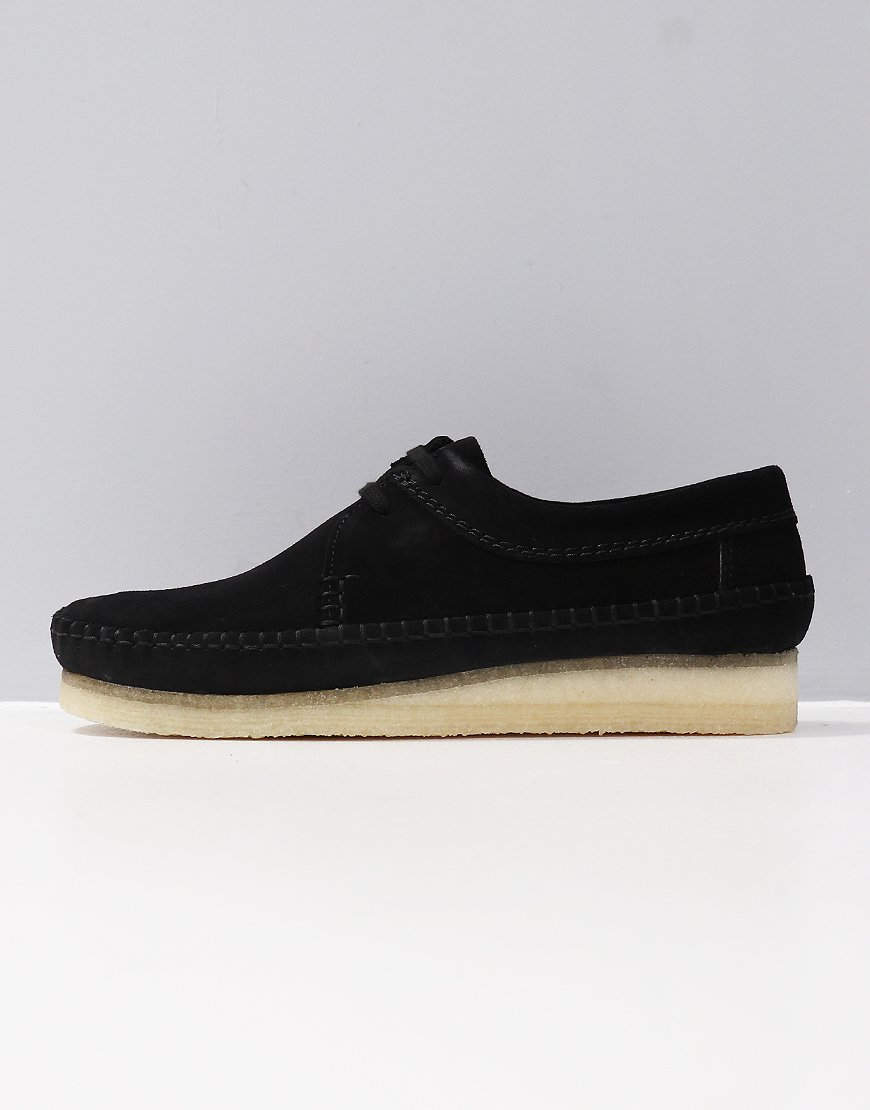 fae90ee8a4d Clarks Originals Weaver Shoe Black Suede