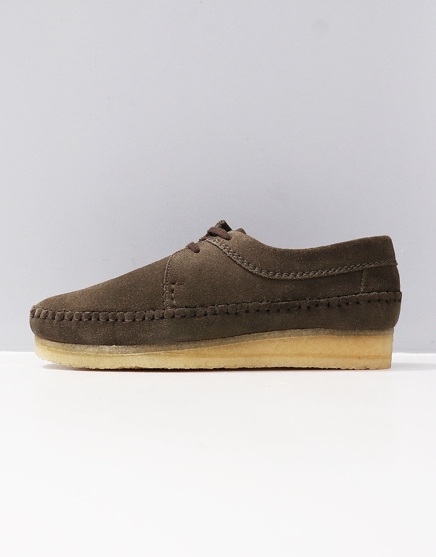 Clarks Originals Weaver Shoe Olive Suede