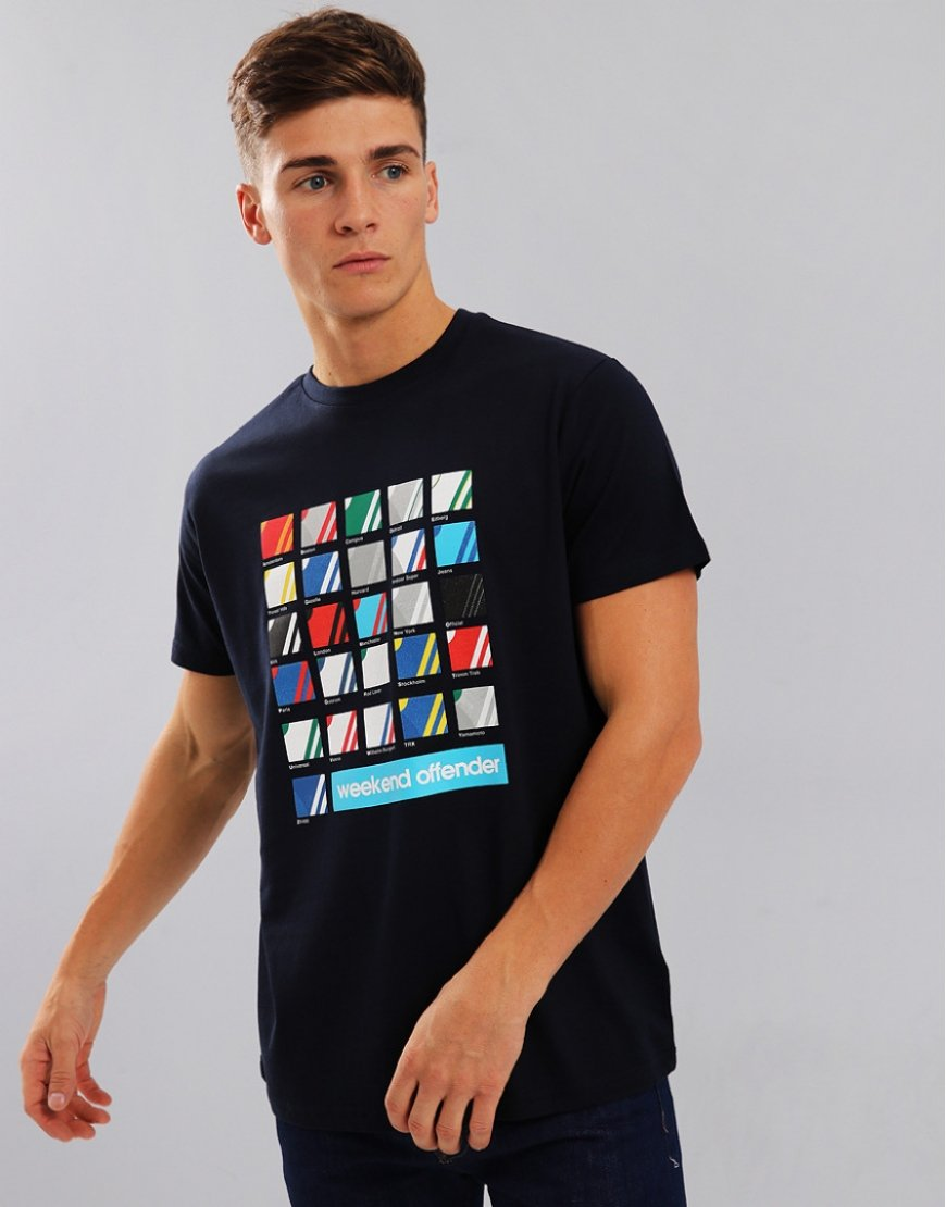 Weekend Offender ABC's T-Shirt Navy