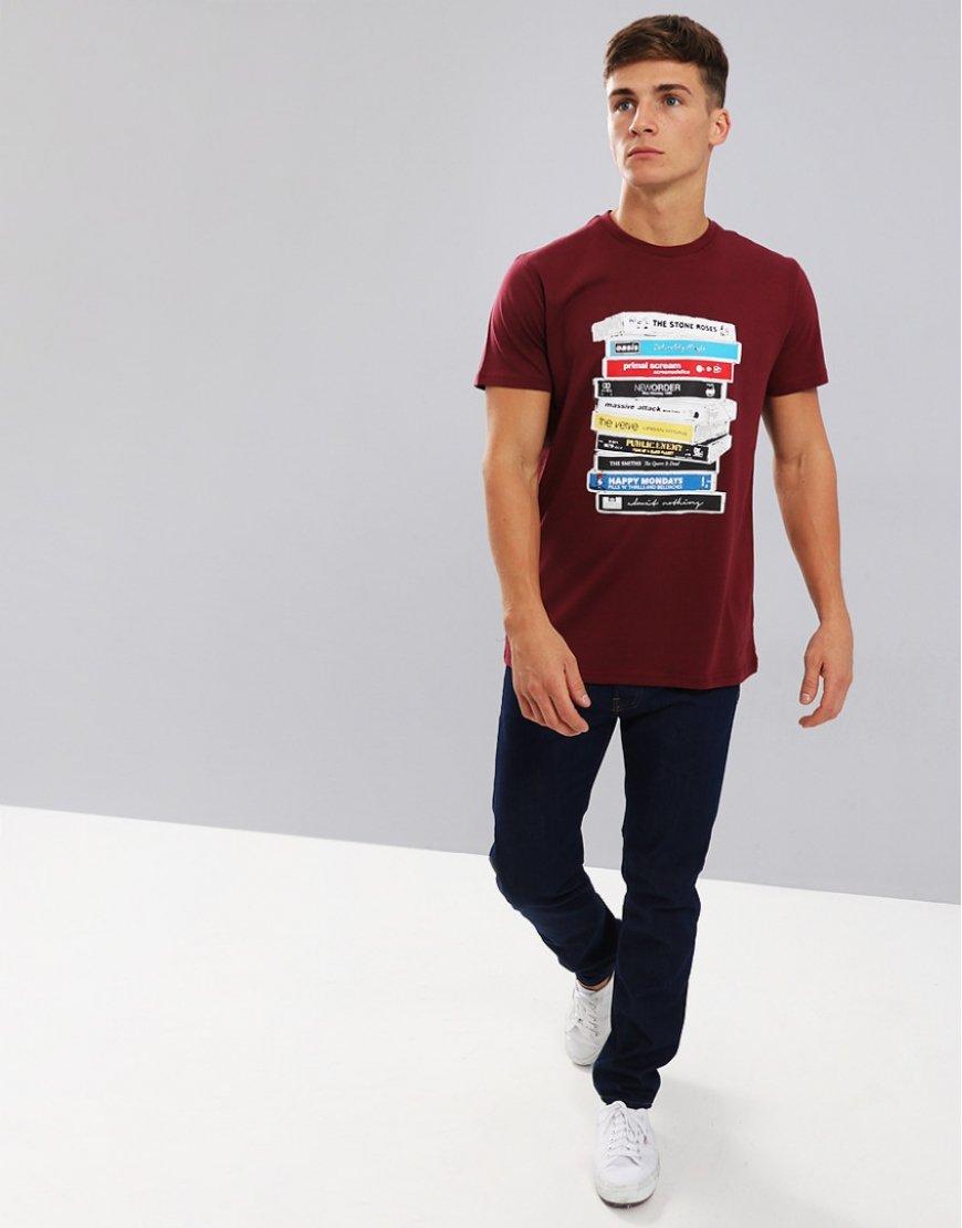 Weekend Offender Cassettes T-Shirt Claret