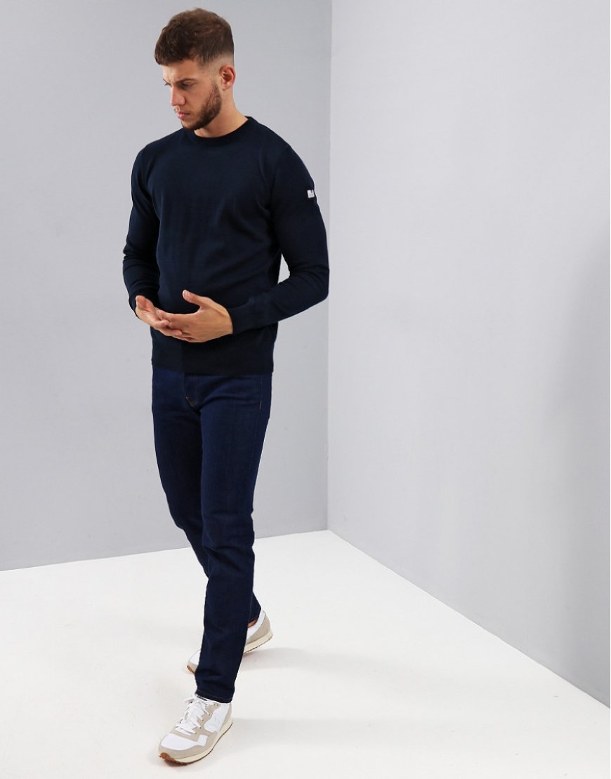 Weekend Offender Holmes Crew Knit Navy