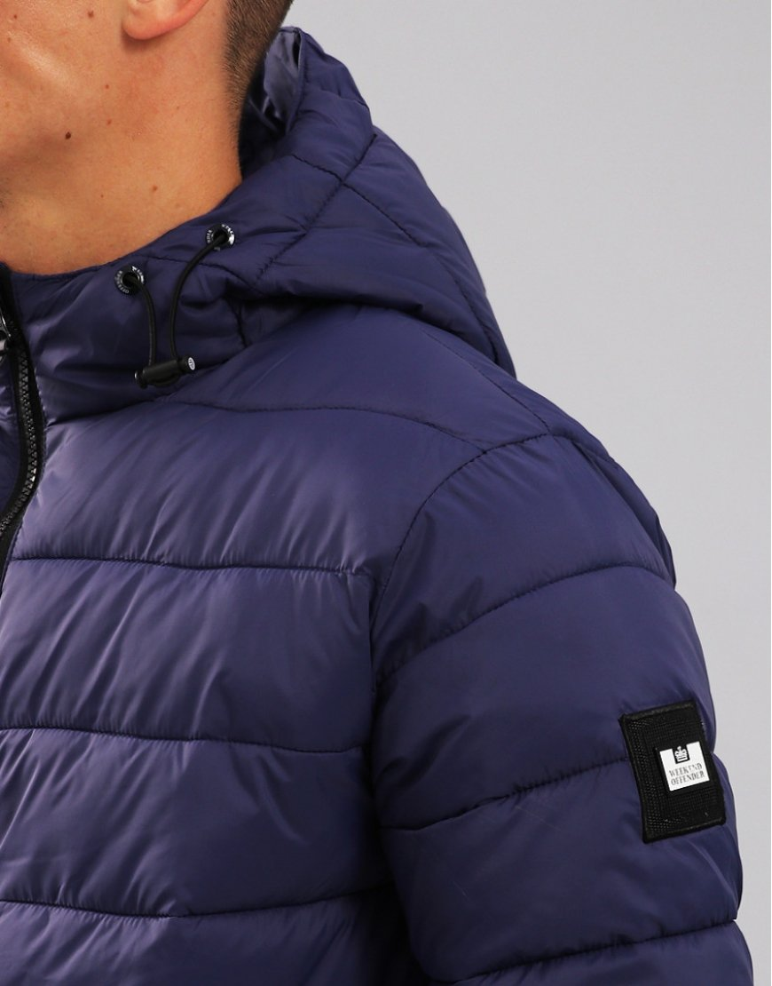 Weekend Offender Frazier Quilted Jacket Light Navy