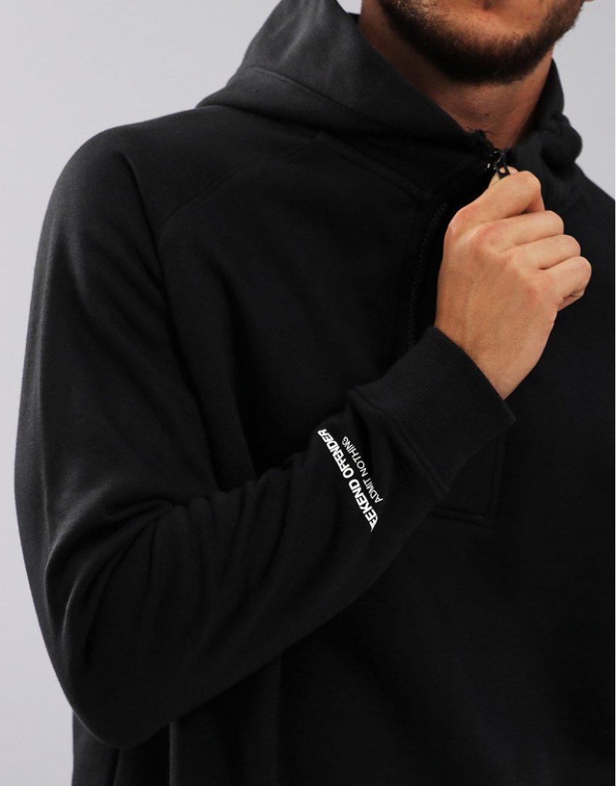 0f8dc11e54c6 Weekend Offender Lamotta Half Zip Hoodie Black - Terraces Menswear