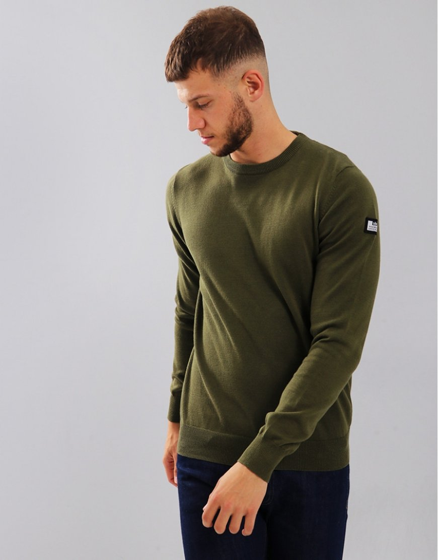 Weekend Offender Holmes Crew Knit Moss