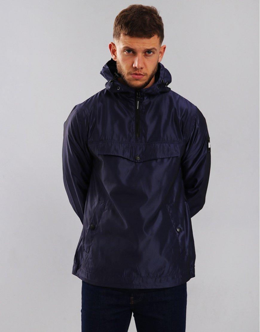 Weekend Offender Louis Hooded Jacket Light Navy