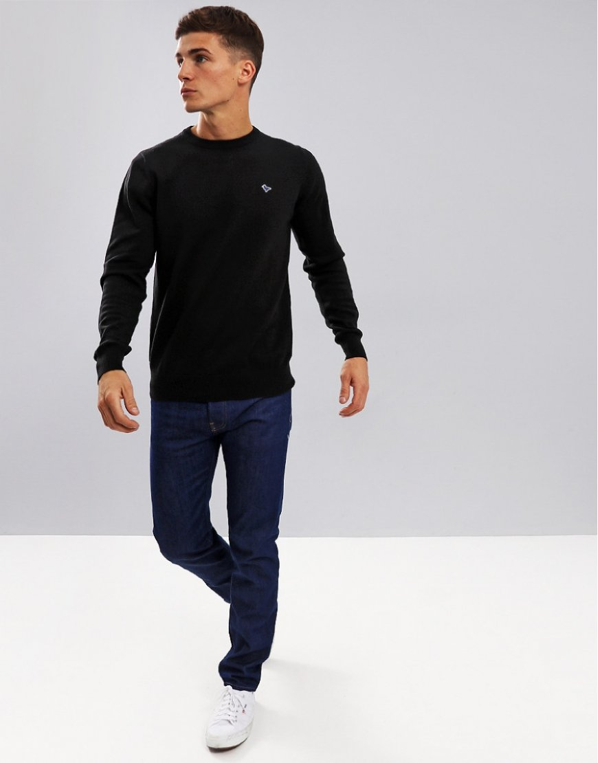 Weekend Offender Mitchell Crew Neck Knit Black