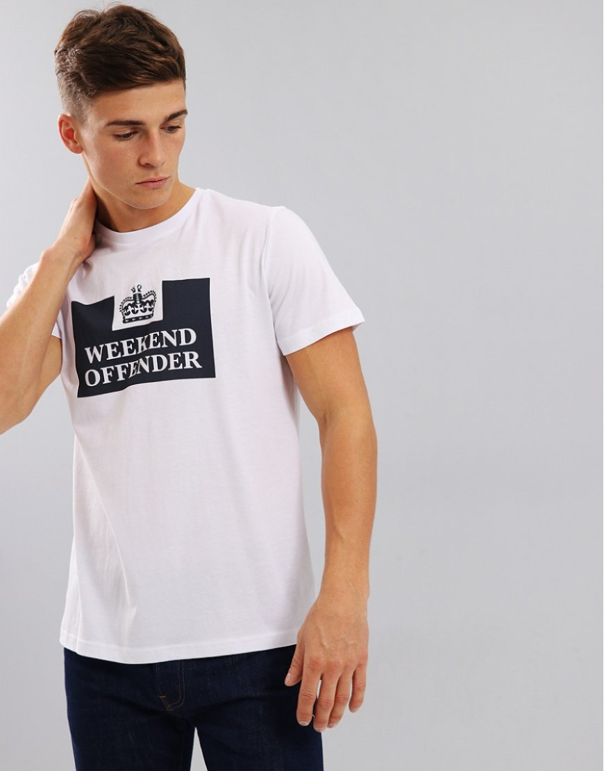 Weekend Offender Prison T-Shirt  White