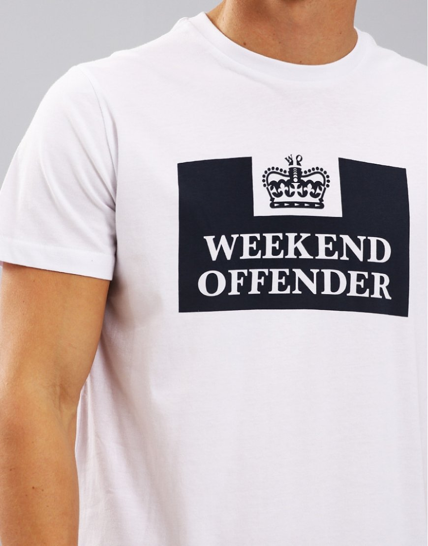 Weekend Offender Prison T-Shirt  White