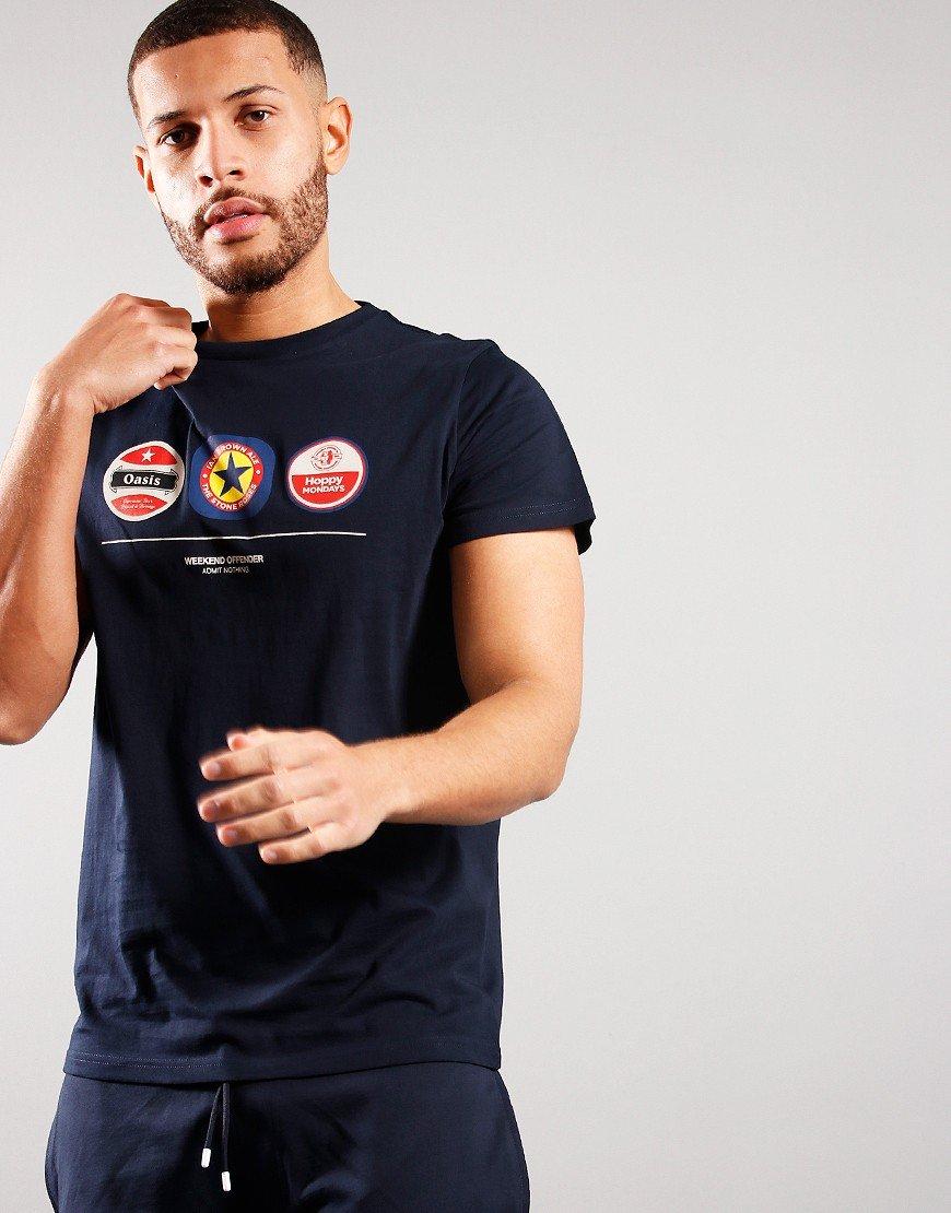 Weekend Offender Beer Mats T-shirt Navy