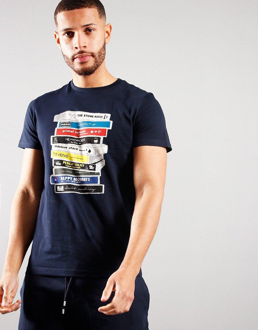 Weekend Offender Cassettes T-shirt Navy