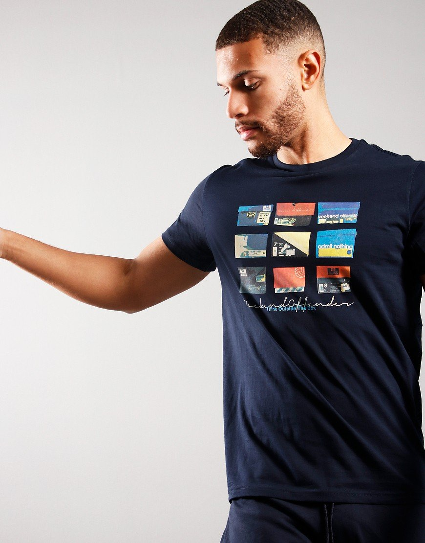 Weekend Offender Think T-shirt Navy