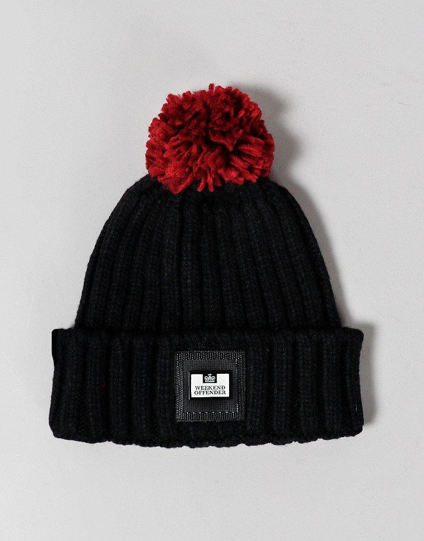 Weekend Offender Gerardi Bobble Hat Black