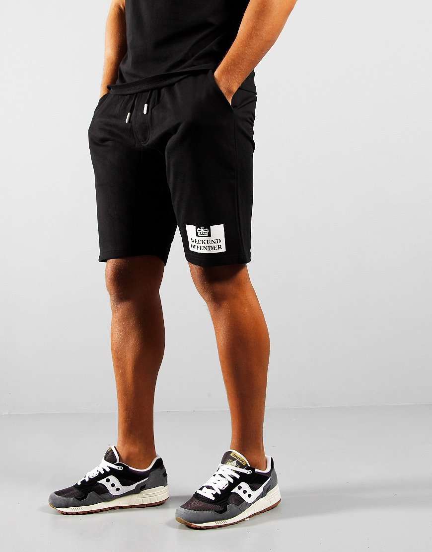 Weekend Offender Action Sweat Shorts Black