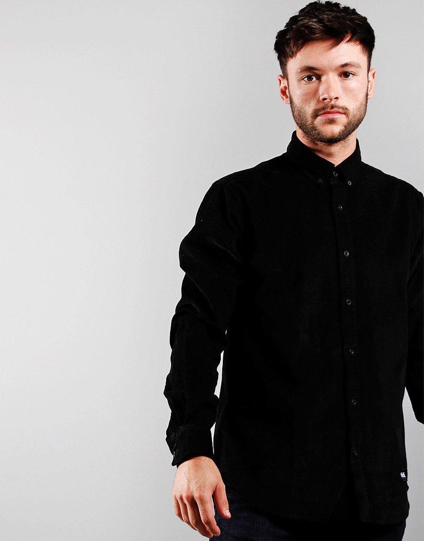 Weekend Offender Belem Cord Shirt Black