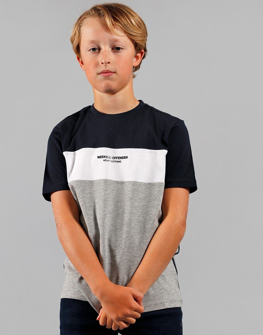 Weekend Offender Kids Bubbles T-Shirt Grey Marl