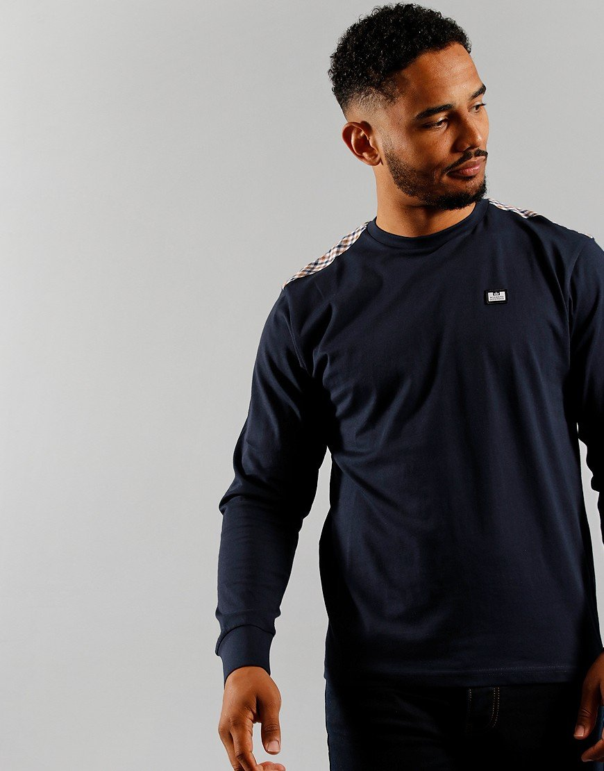 Weekend Offender Byrde Long Sleeved T-Shirt Navy