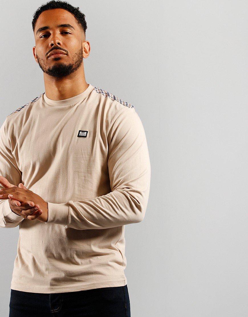 Weekend Offender Byrde Long Sleeved T-Shirt Sand