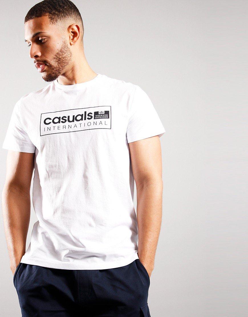Weekend Offender Casual International T-shirt White