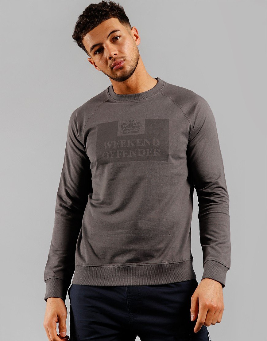 Weekend Offender Chester Sweat Charcoal