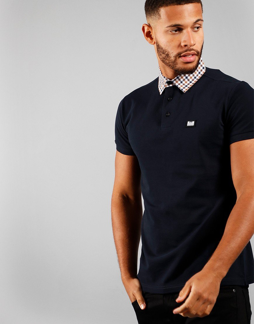 Weekend Offender Chrome Polo Shirt Navy