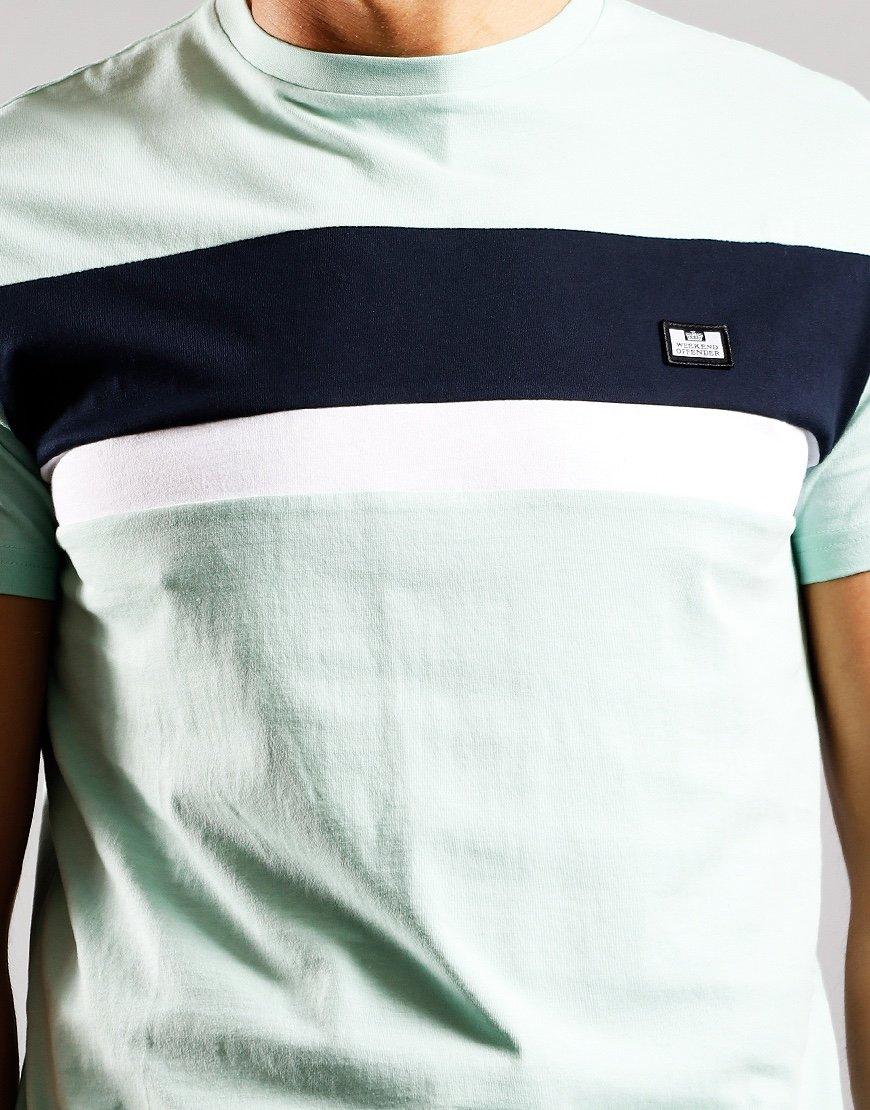 Weekend Offender Crossword T-Shirt Mint/Navy/White