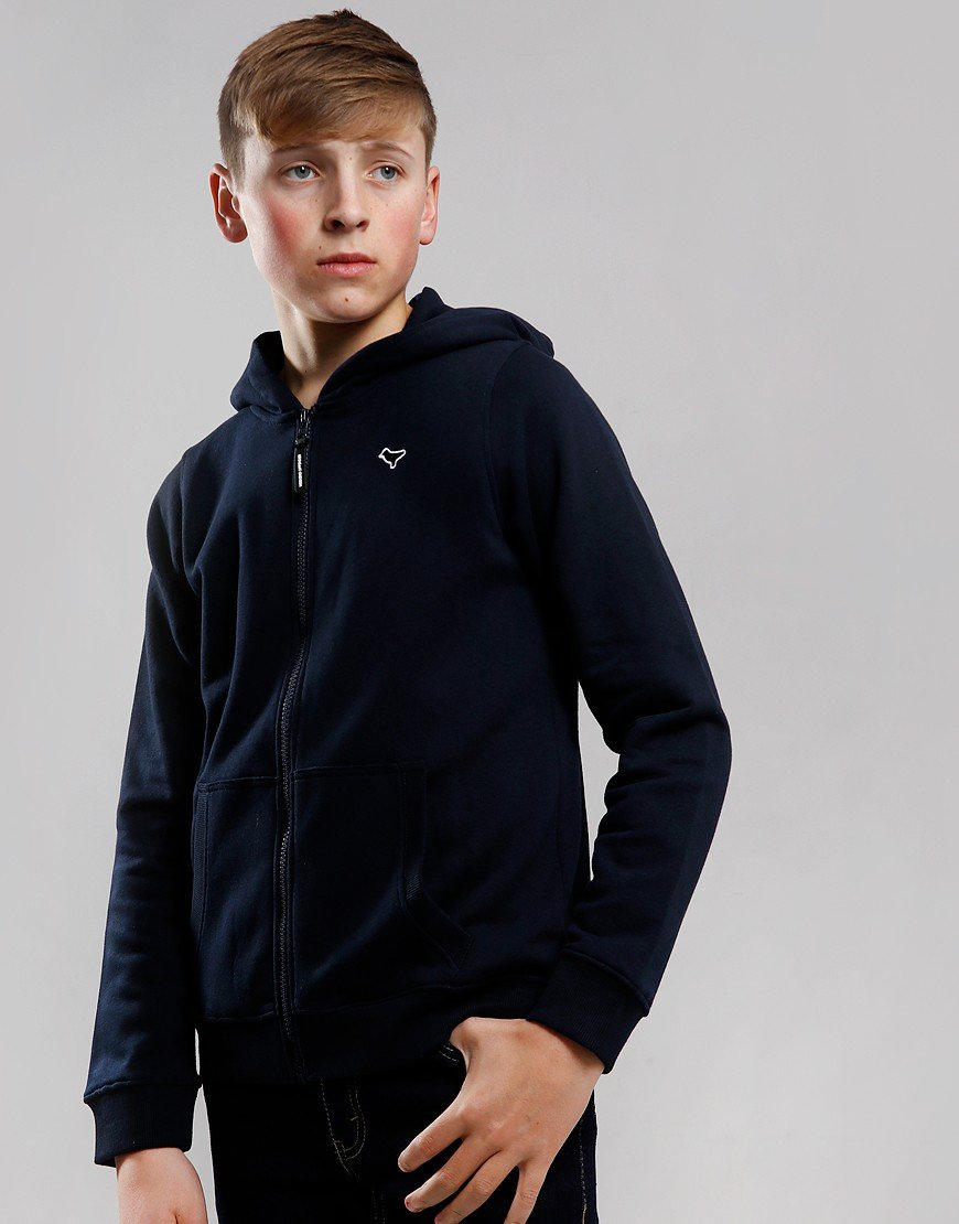Weekend Offender Kids Dove Zip Hoodie Navy