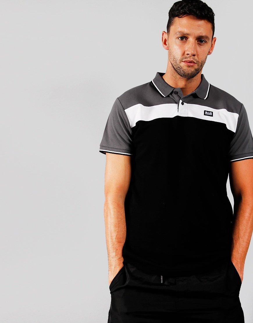 Weekend Offender Empire Polo Shirt Black