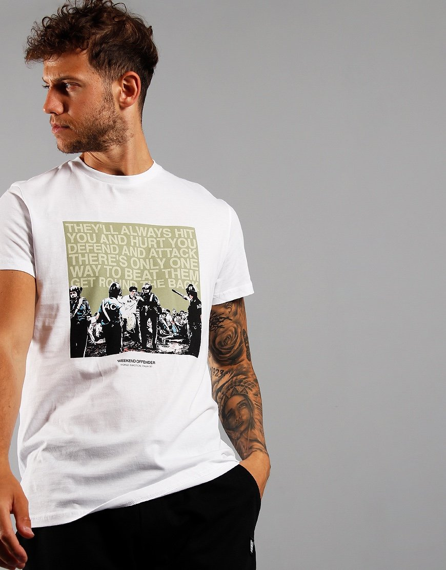 Weekend Offender Fans T-Shirt White