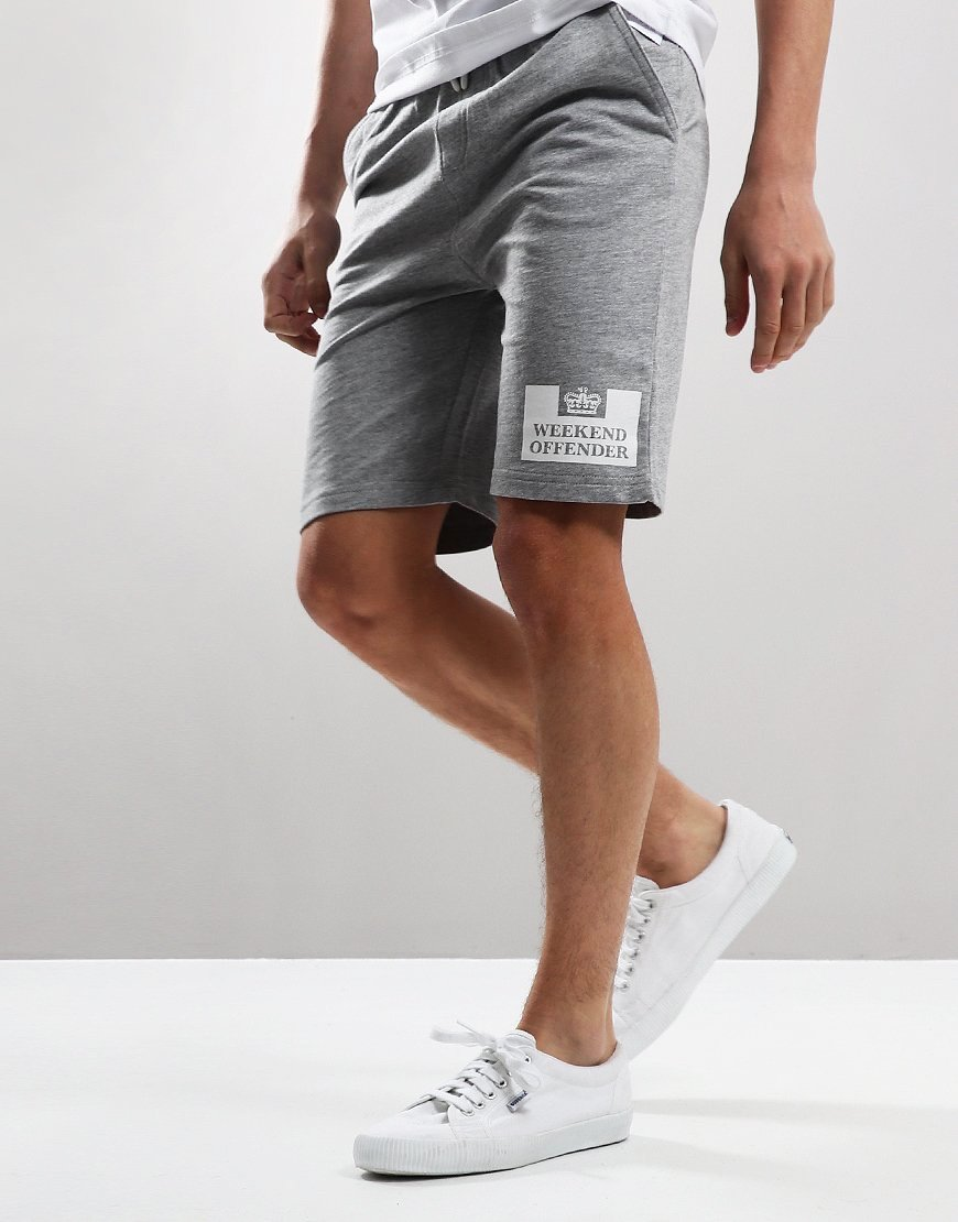 Weekend Offender Kids Action Sweat Shorts Grey Marl