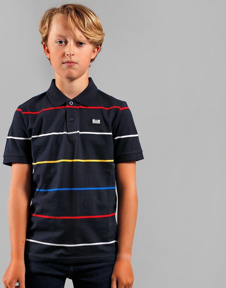 Weekend Offender Kids Alfie Polo Shirt Navy