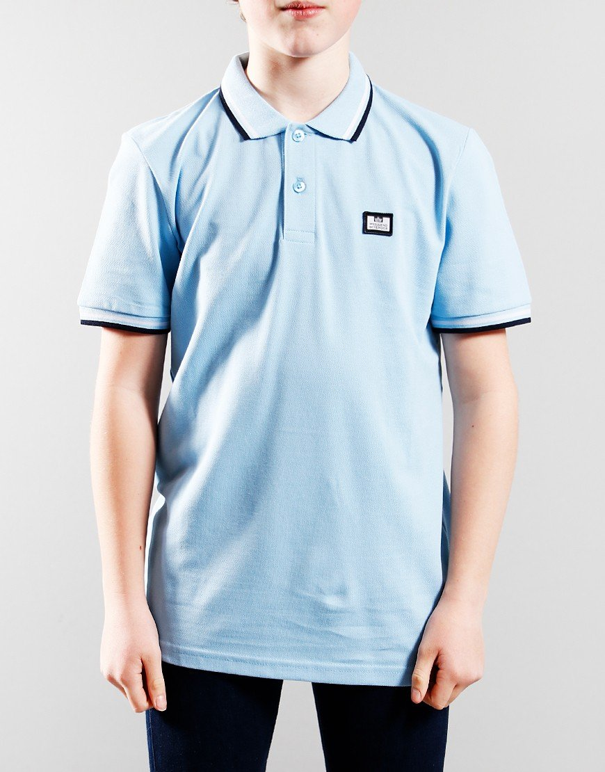 Weekend Ammorite Tip Polo Shirt Sky/White/Navy