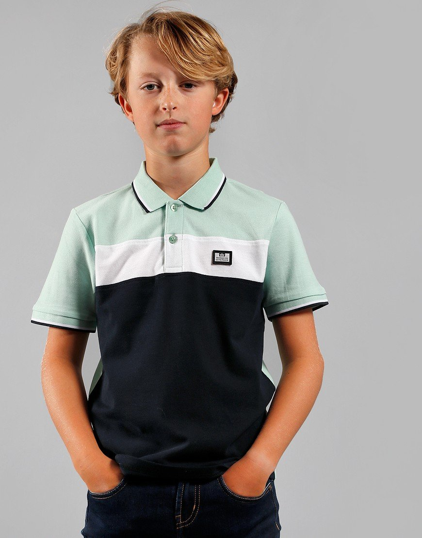 Weekend Offender Kids Beadie Polo Shirt Navy