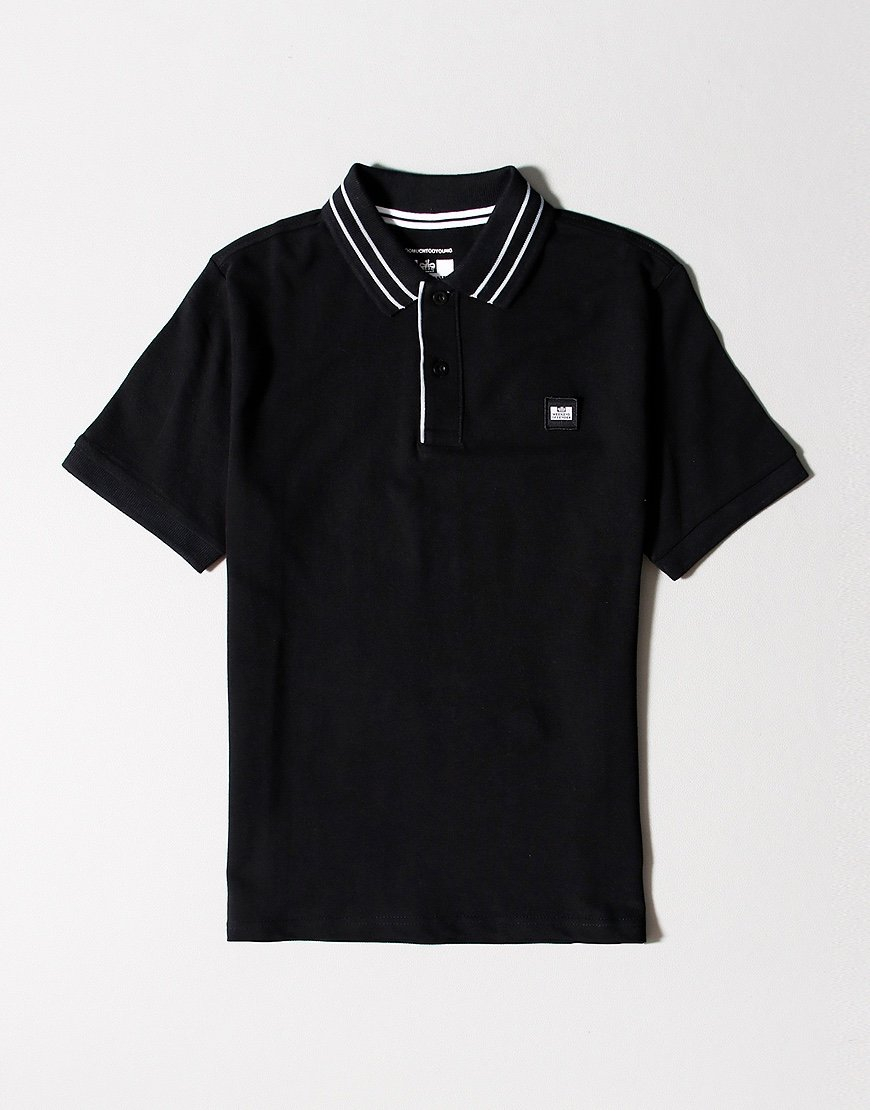 Weekend Offender Kids Bermejo Polo Shirt Black
