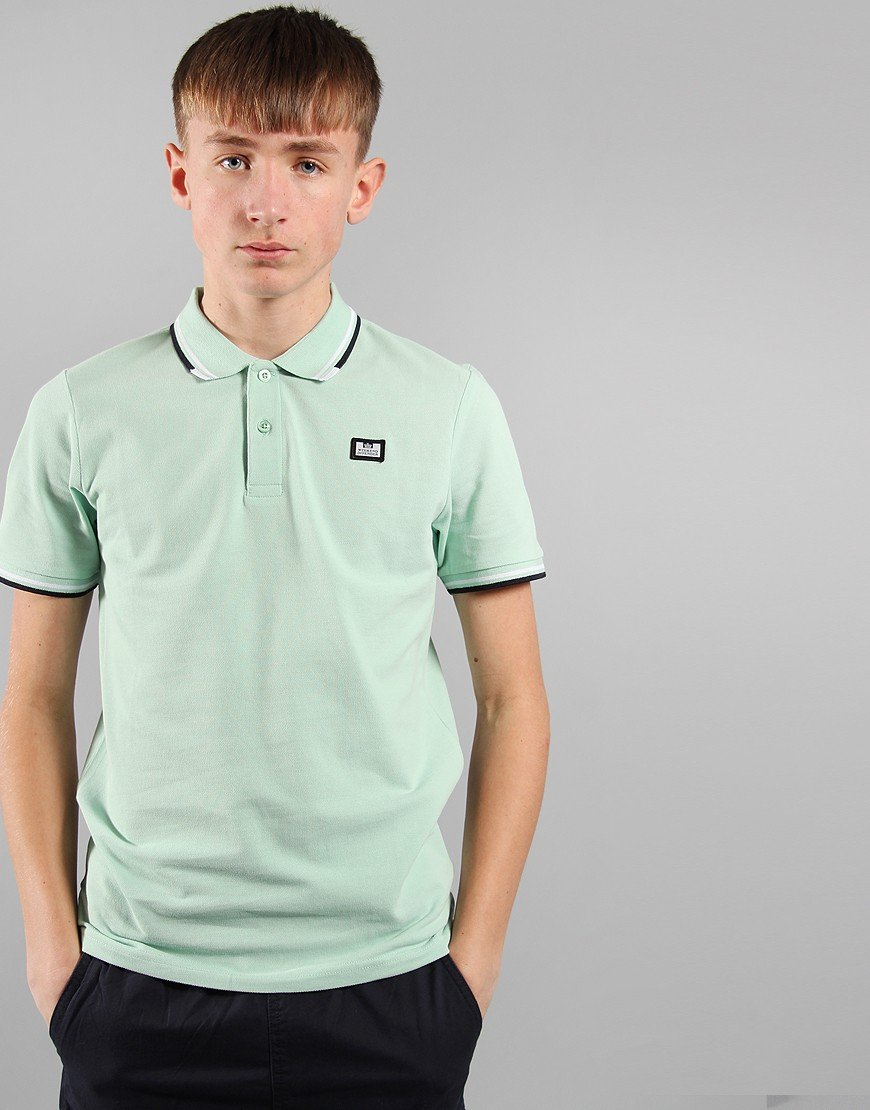 Weekend Offender Kids Polo Shirt Mint