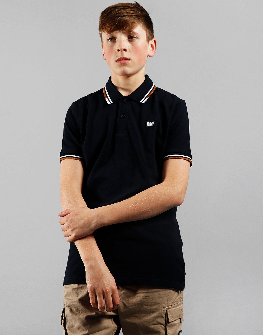 Weekend Offender Kids Polo Shirt Navy