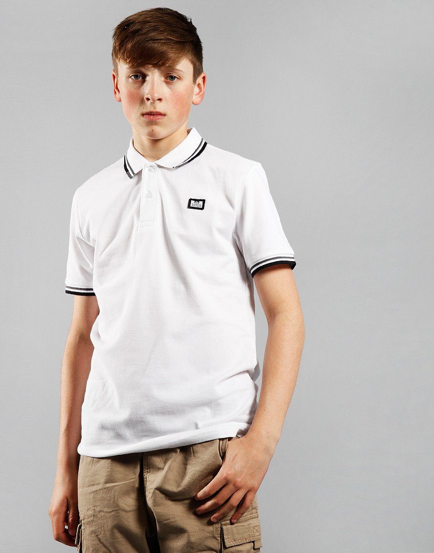 Weekend Offender Kids Polo Shirt White