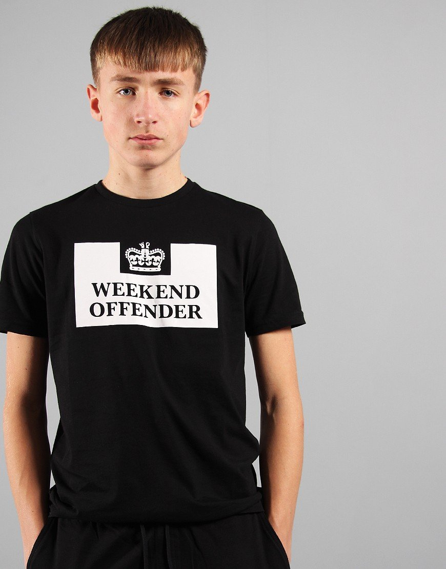 Weekend Offender Kids Prison T-Shirt Black