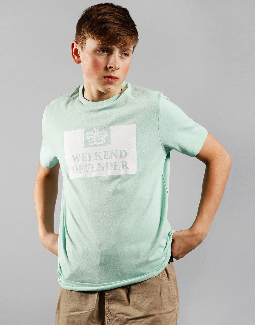 Weekend Offender Kids Prison T-Shirt Mint