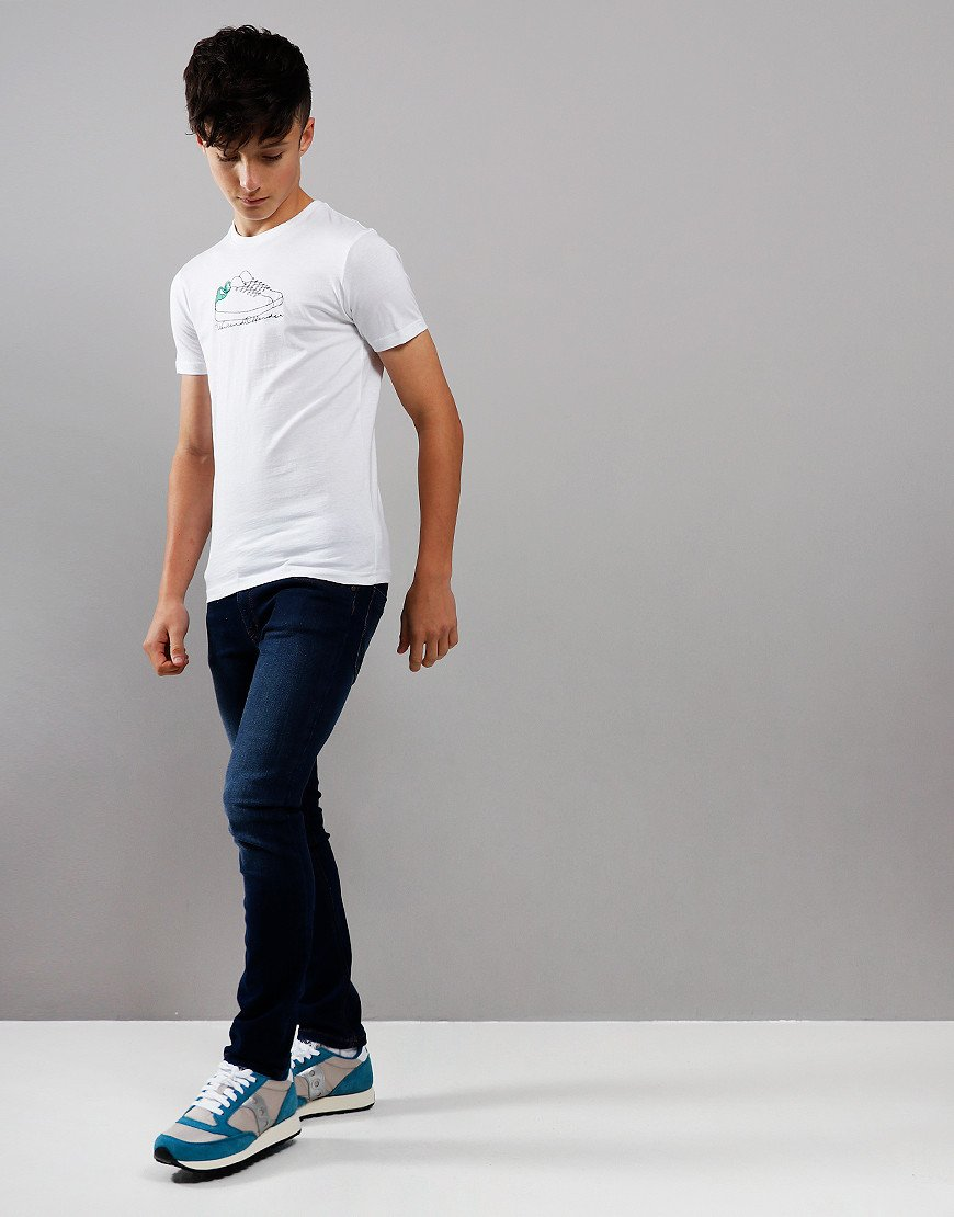 Weekend Offender Kids Trainers T-Shirt White