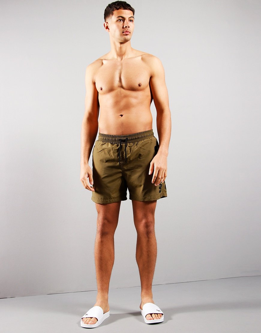 Weekend Offender Laguna Swim Shorts Dark Army
