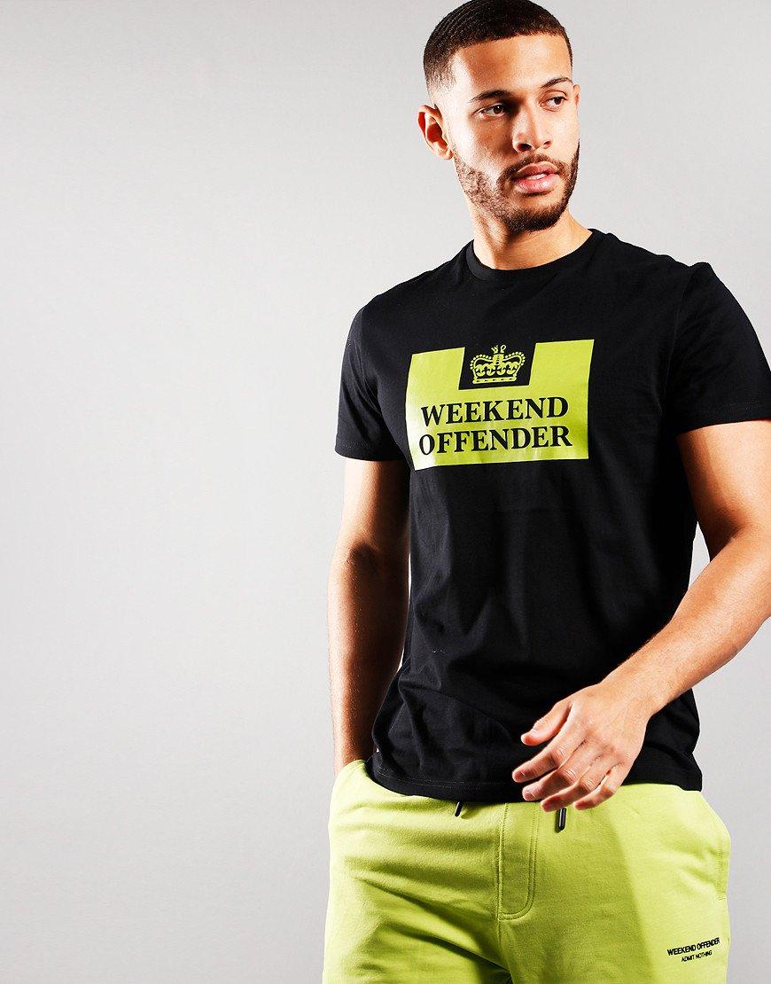 Weekend Offender McMoney T-Shirt Black/Lime
