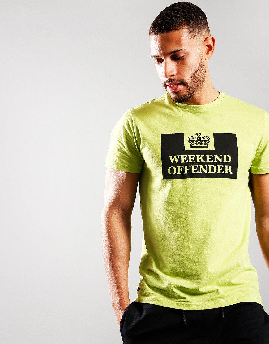 Weekend Offender McMoney T-Shirt Lime/Black