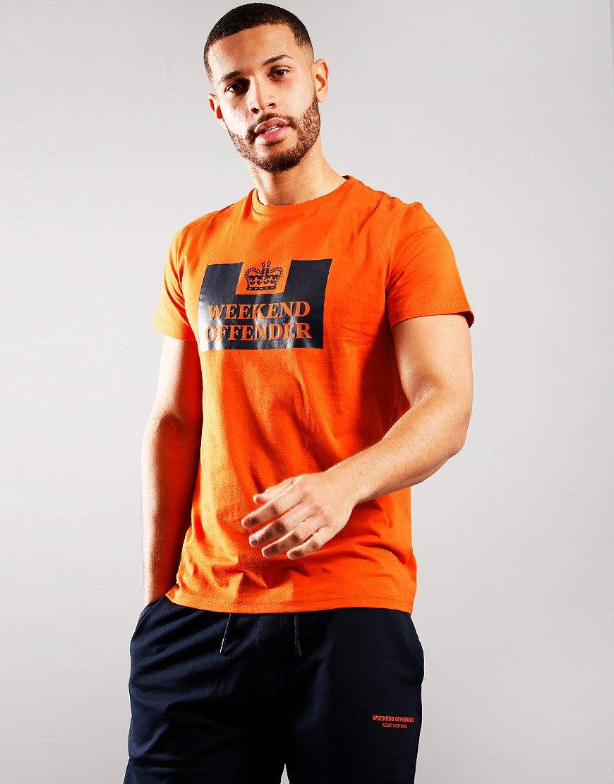 Weekend Offender McMoney T-Shirt Orange/Navy