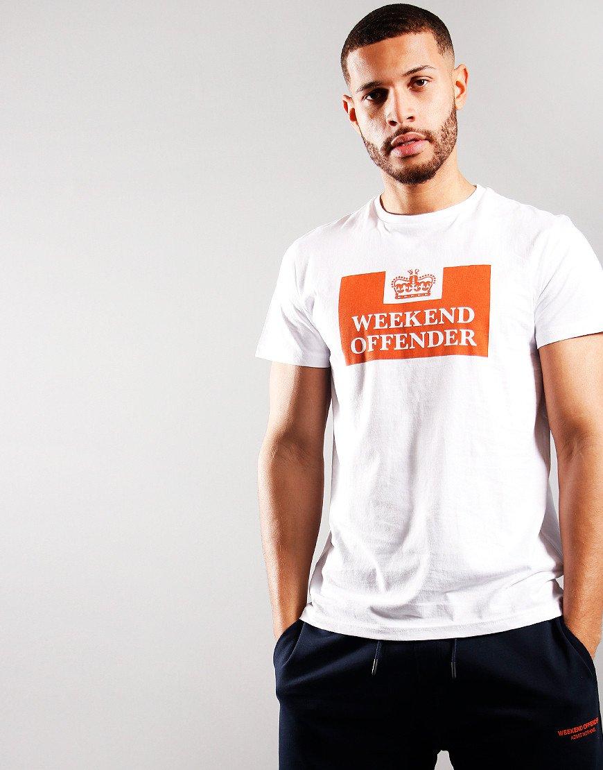 Weekend Offender McMoney T-Shirt White/Orange