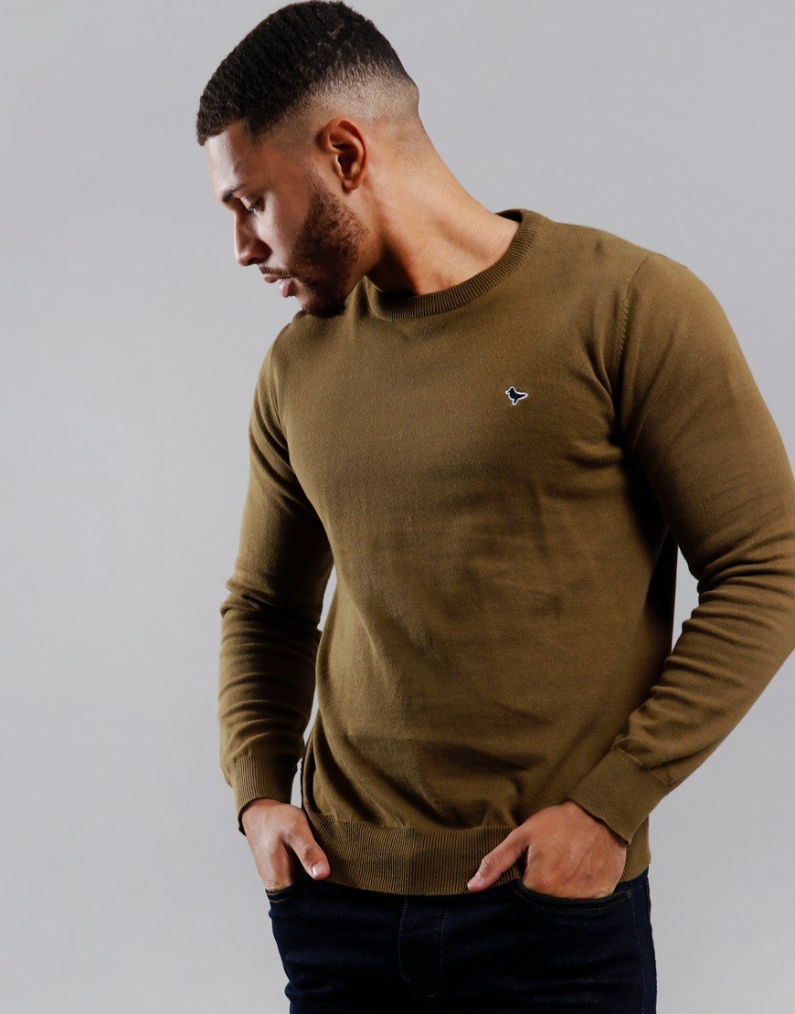 Weekend Offender Napoli Crew Neck Knit Moss