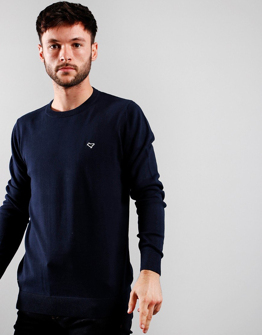 Weekend Offender Napoli Knitted Crew Navy