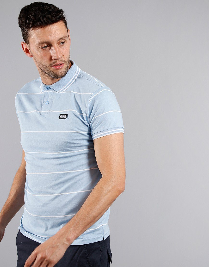 Weekend Offender Nelson Polo Shirt Sky