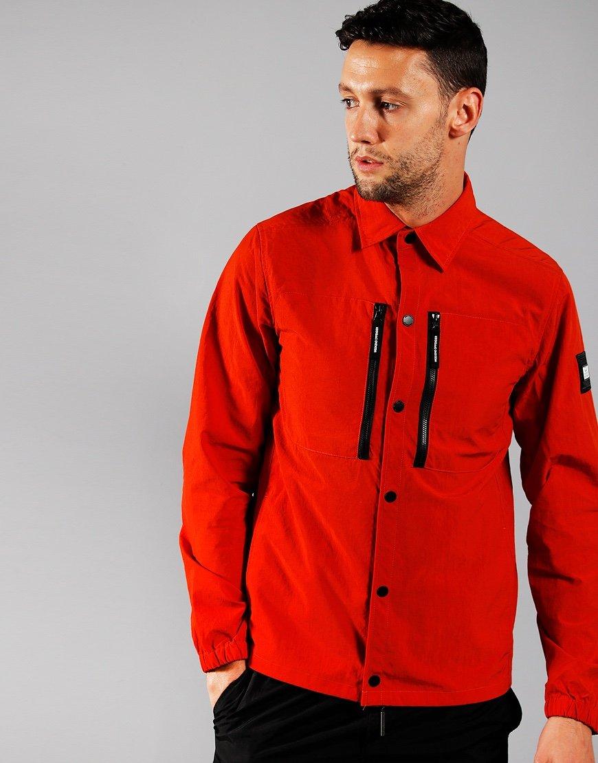 Weekend Offender Nicky Eyes Overshirt Burnt Orange
