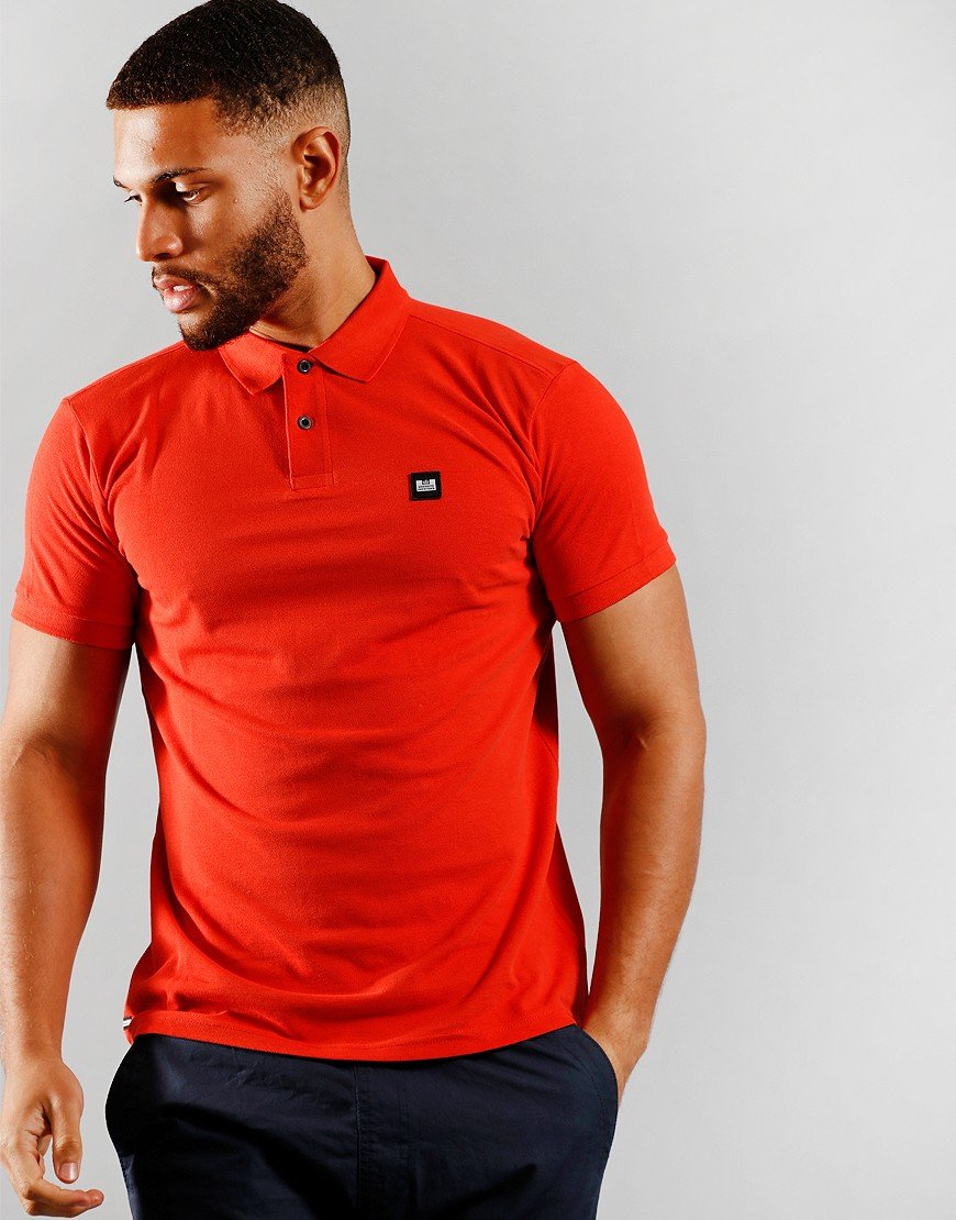 Weekend Offender Oruro Polo Shirt Red Clay